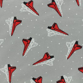 Poppy jersey fabric Space - grey x 10cm