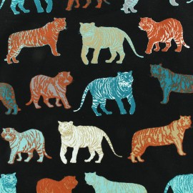 Poppy jersey fabric Roar - black x 30cm