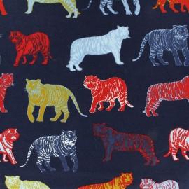 Tissu jersey Poppy Roar - bleu nuit x 30cm