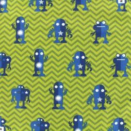 Tissu jersey Poppy Robots to the rescue - vert x 28cm