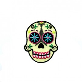Mexico embroidered iron-on patch - sugar skull