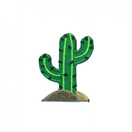 Mexico embroidered iron-on patch - cactus