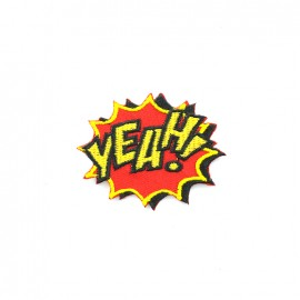 La boum de martine embroidered iron-on patch - yeah