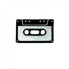 Thermocollant brodé La boum de martine - cassette grise