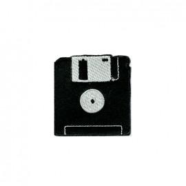 Thermocollant brodé La boum de martine - disquette noire