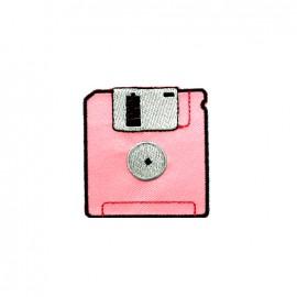 Thermocollant brodé La boum de martine - disquette rose