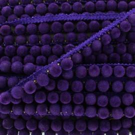 Galon Pompon India 8 mm - violet x 50cm
