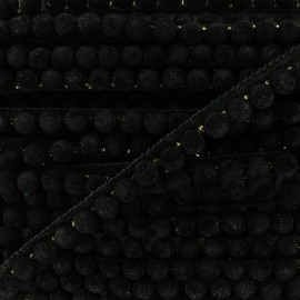 India pompom braid trimming 8 mm - black x 50cm