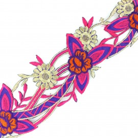 Guipure lace ribbon India  Apala - pink x 50cm