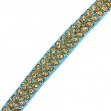 Ruban galon India Aloki - bleu x 50cm