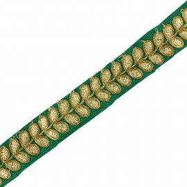 Ruban galon India Aloki - vert x 50cm