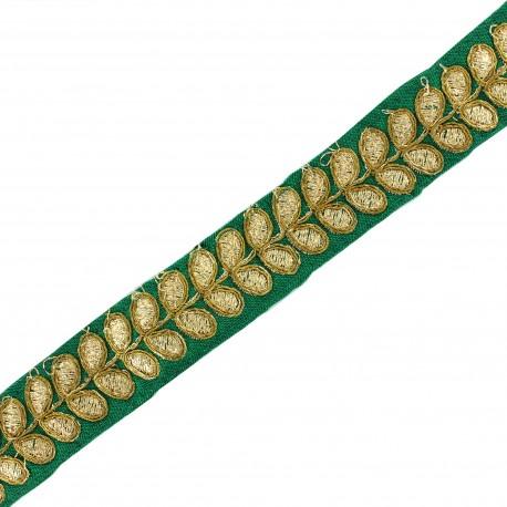 Trimming ribbon India Aloki - green x 50cm