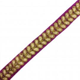 Ruban galon India Aloki - violet x 50cm