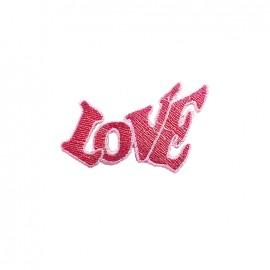 Thermocollant brodé Amour à la plage - love rose