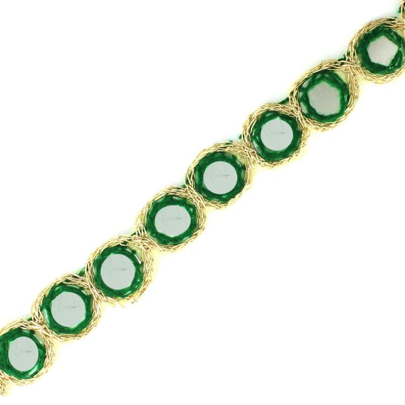 Ruban galon india miroir 20mm vert ma petite mercerie - Petit miroir pas cher ...