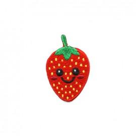 Thermocollant brodé Funny fruit - fraise