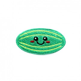 Funny fruit embroidered iron-on patch - watermelon