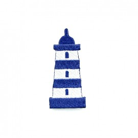 Phare breton embroidered iron-on patch - lighthouse