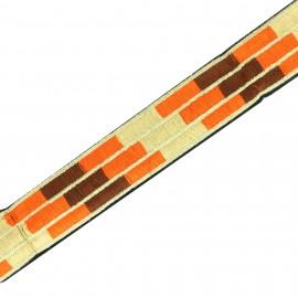 Galon India Anshula - Orange x 50cm