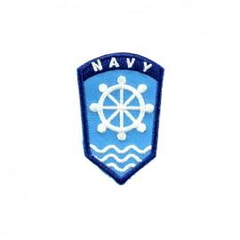 Thermocollant brodé Phare breton - épaulette navy