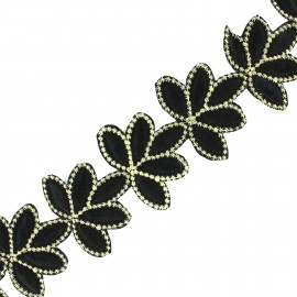 Guipure India Angarika - Noir x 50cm