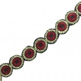 Galon India Avantika - Noir x 50cm
