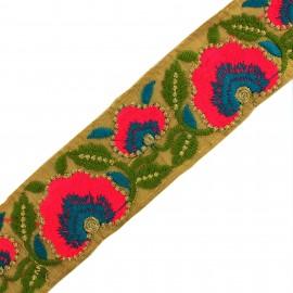 Ruban galon India Archisha  - Marron clair x 50cm