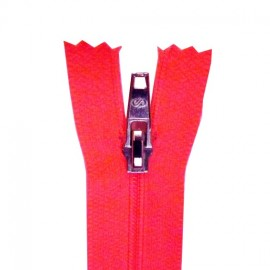 Closed bottom zipper - fluorescent pink