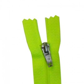 Closed bottom zipper - fluorescent green