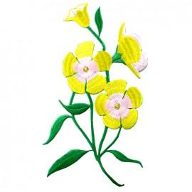 Thermocollant brodé Elegante nature - amaryllis jaune