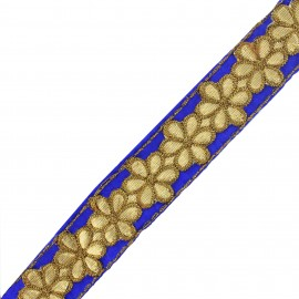 Ruban galon India Bandhula - bleu x 50cm