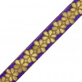 Ruban galon India Bandhula - violet x 50cm