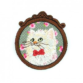 Iron on patch Vintage - cat x 1