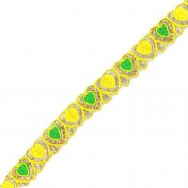 Galon India Anju - jaune x 50cm