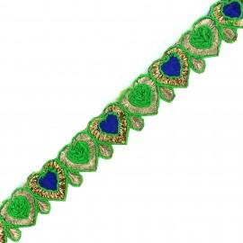 Braid Trimming, India Anju  - green x 50cm