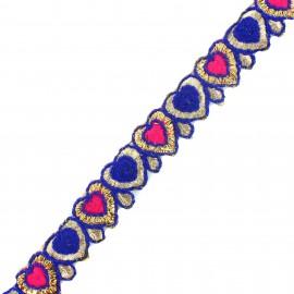 Braid Trimming, India Anju  - blue x 50cm