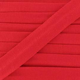 Biais jersey coton uni 20mm - rouge x 1m