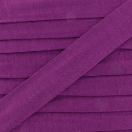 Plain cotton jersey bias binding 20mm - violine x 1m