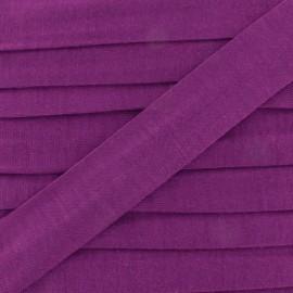 Plain cotton jersey bias binding 20mm - violine x 1m