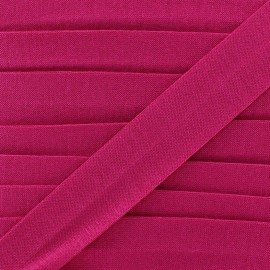Plain cotton jersey bias binding 20mm - fuchsia x 1m