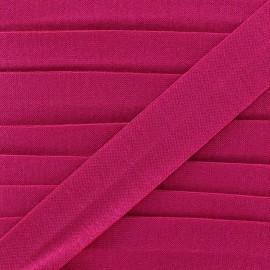 Plain cotton jersey bias binding 20mm - fuchsia x 1m