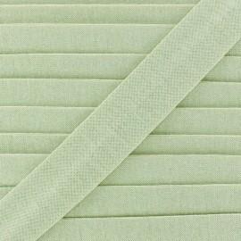 Biais jersey coton uni 20mm - vert clair x 1m