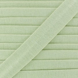 Plain cotton jersey bias binding 20mm - light green x 1m