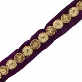 Trimming ribbon India Eta purple x 50cm