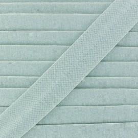 Biais jersey coton uni 20mm - bleu clair x 1m