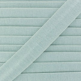 Plain cotton jersey bias binding 20mm - light blue x 1m