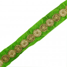 Trimming ribbon India Eta - green x 50cm