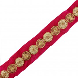 Ruban galon India Eta - rose x 50cm