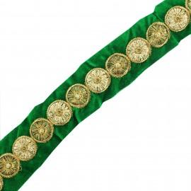 Ruban galon India Eta - vert foncé x 50cm