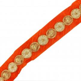 Trimming ribbon India Eta orange x 50cm